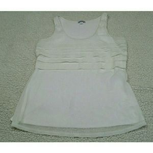 Express sleeveless white blouse size sp